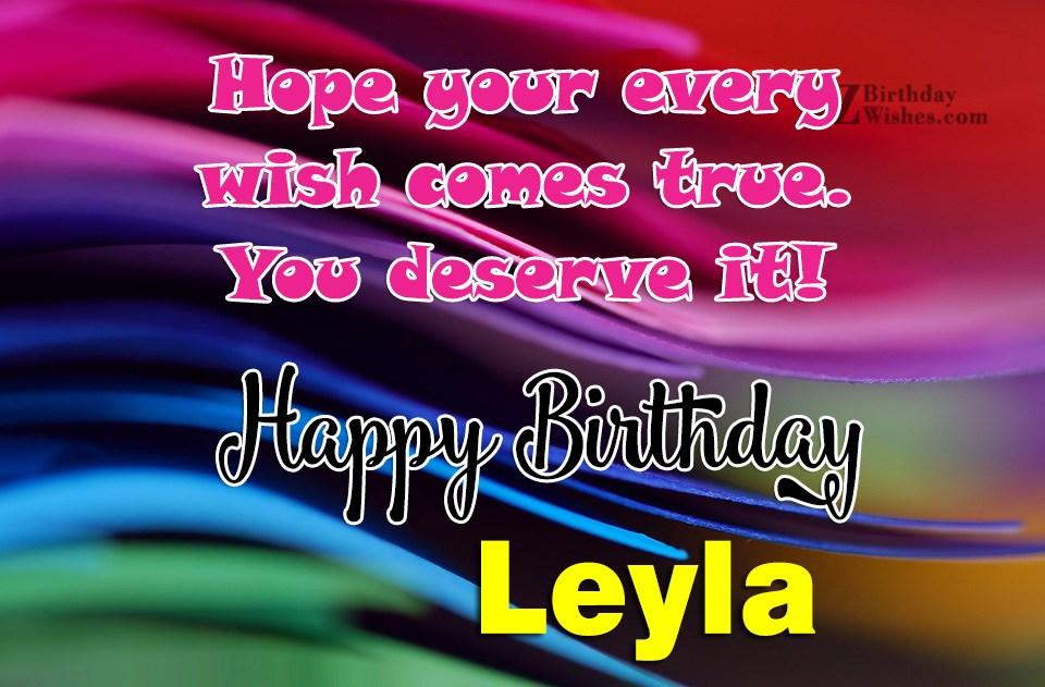Happy Birthday Wishes For Friend Happy Birthday Leyla