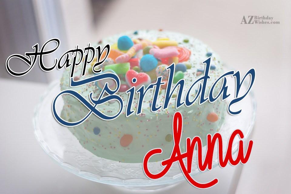 Happy Birthday Anni