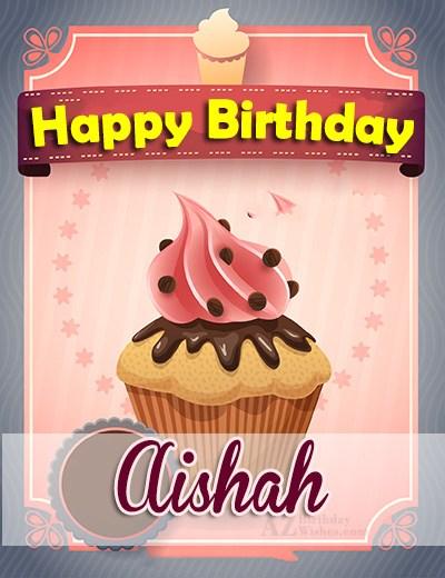 Happy Birthday Aishah - AZBirthdayWishes.com