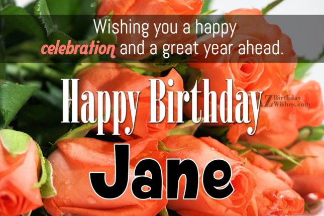 Happy Birthday Jane - AZBirthdayWishes.com