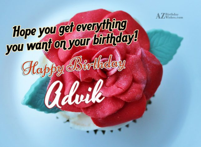 Happy Birthday Advik - AZBirthdayWishes.com
