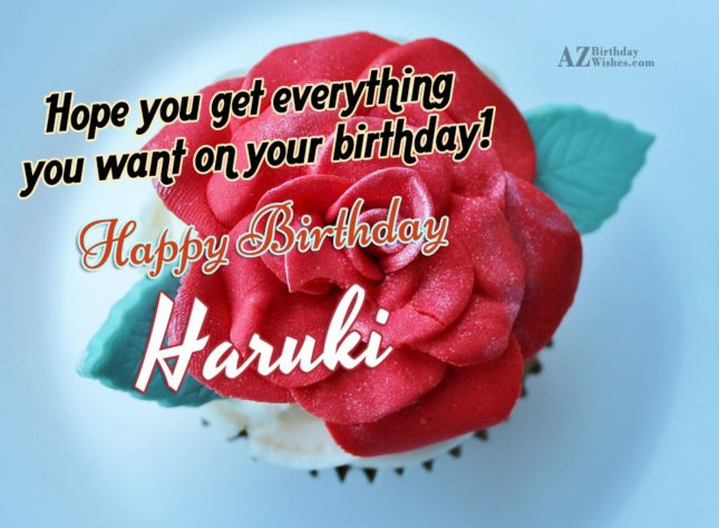 Happy Birthday Haruto - AZBirthdayWishes.com