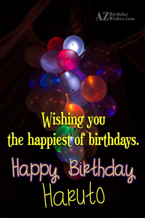 Happy Birthday Hayato - AZBirthdayWishes.com