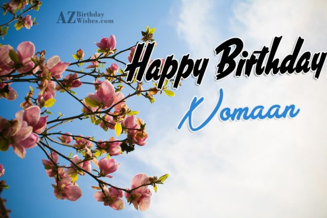 Happy Birthday Nomaan - AZBirthdayWishes.com