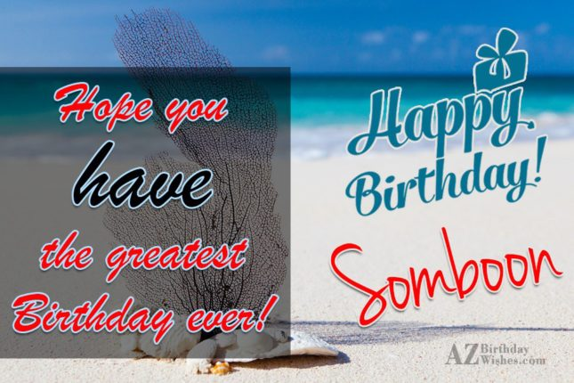 Happy Birthday Somboon - AZBirthdayWishes.com