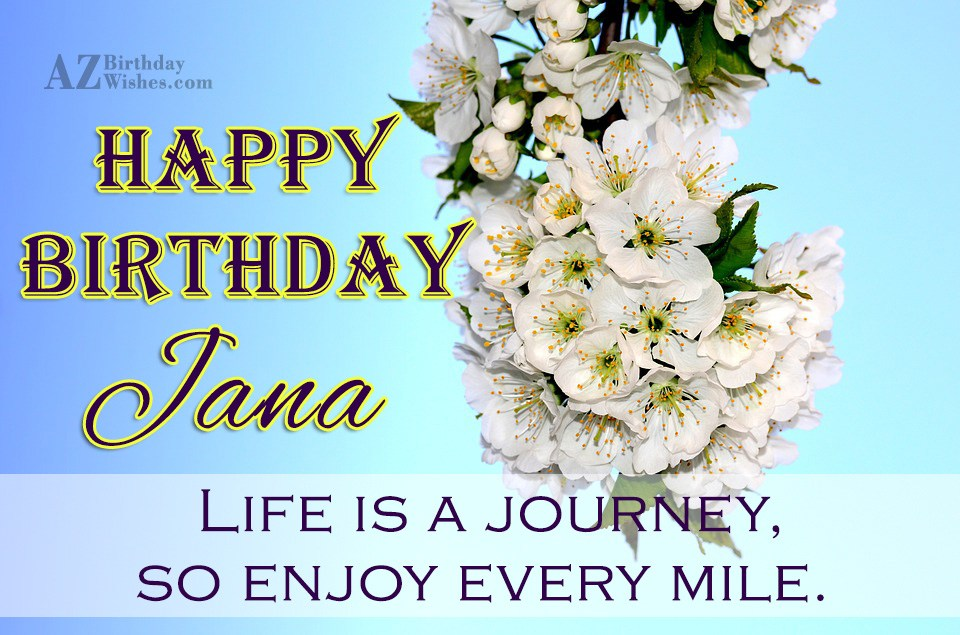 Happy Birthday Jana جنى