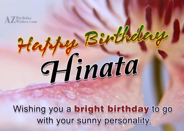 Happy Birthday Hinata - AZBirthdayWishes.com