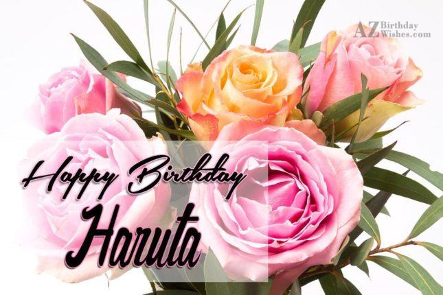 Happy Birthday Haruta - AZBirthdayWishes.com