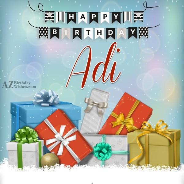 Happy Birthday Adi - AZBirthdayWishes.com