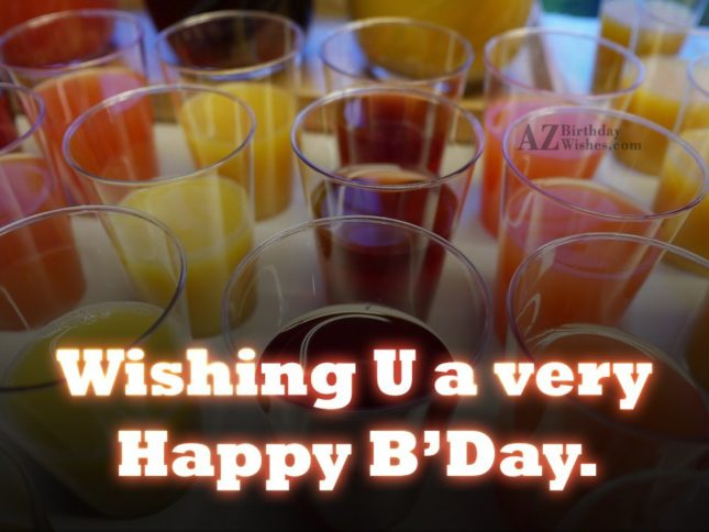 Wishing you a very happy birthday - AZBirthdayWishes.com