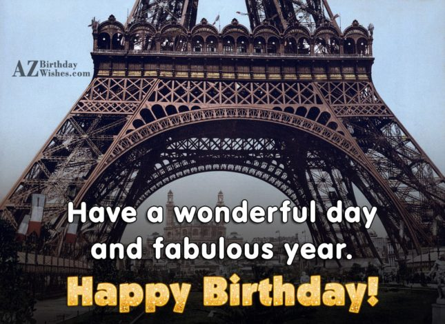 Have a wonderful and fabulous year - AZBirthdayWishes.com
