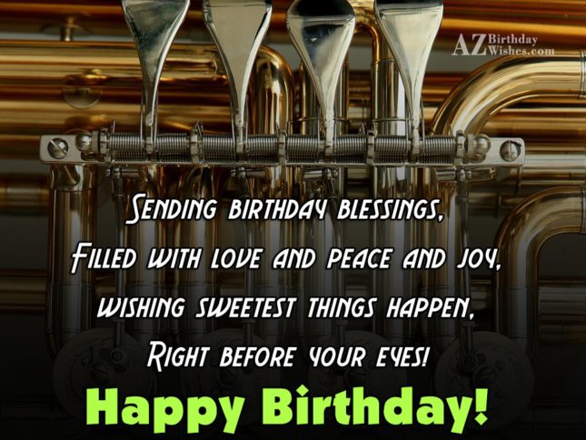 Sending birthday blessings filled with love and peace - AZBirthdayWishes.com