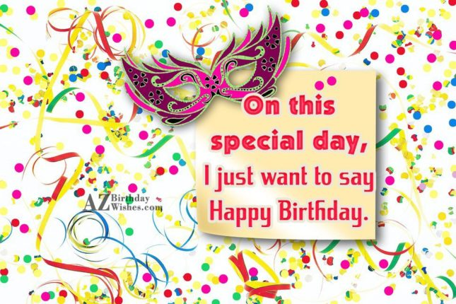 On this day special day - AZBirthdayWishes.com