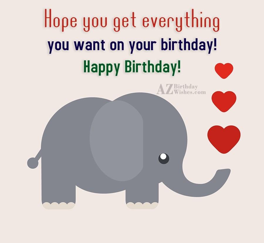 Birthday Wishes With Elephants
