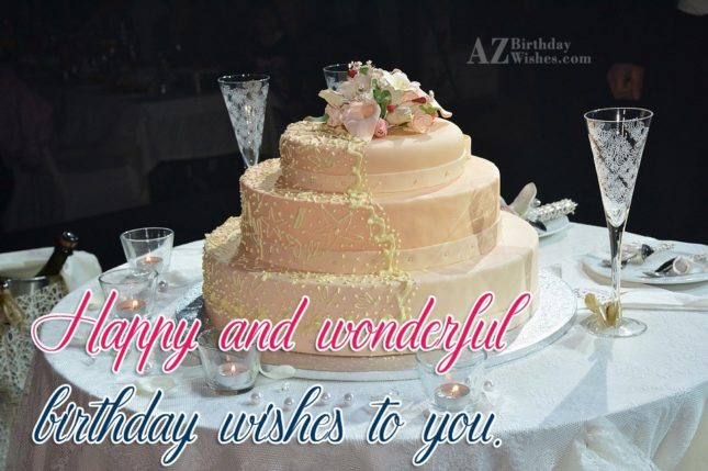 Happy and wonderful birthdays - AZBirthdayWishes.com