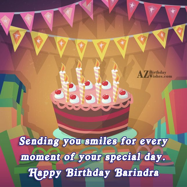 Happy Birthday Barindra - AZBirthdayWishes.com