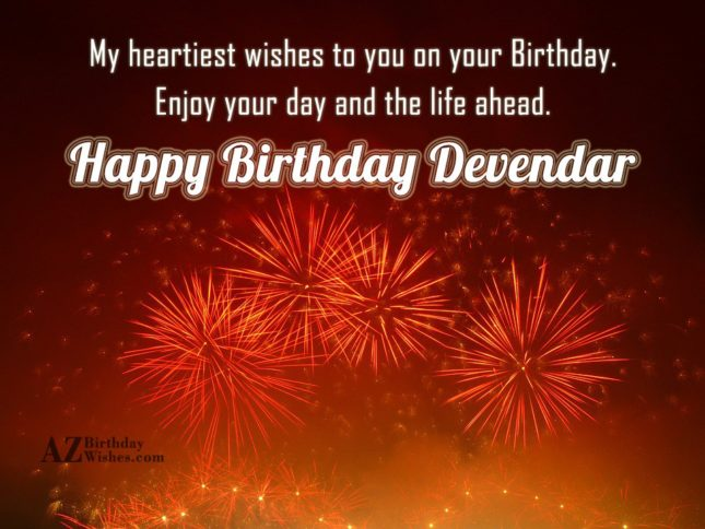 Happy Birthday Devendar - AZBirthdayWishes.com