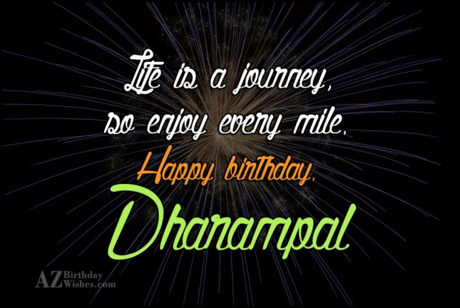Happy Birthday Dharampal - AZBirthdayWishes.com