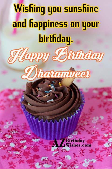 Happy Birthday Dharamveer - AZBirthdayWishes.com