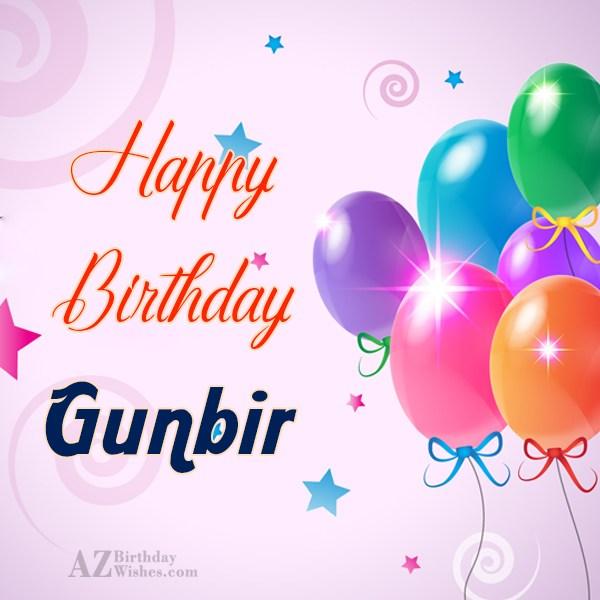 Happy Birthday Gunbir - AZBirthdayWishes.com