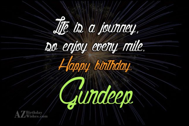 Happy Birthday Gurdeep - AZBirthdayWishes.com