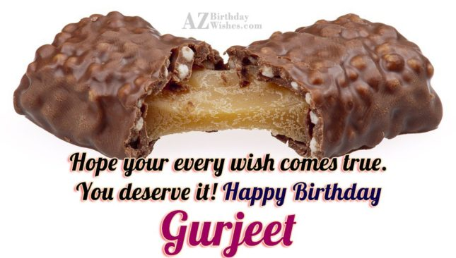 Happy Birthday Gurjeet - AZBirthdayWishes.com