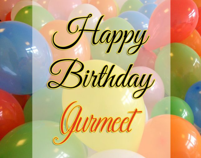 Happy Birthday Gurmeet - AZBirthdayWishes.com