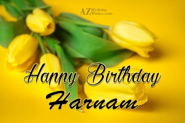 Happy Birthday Harnam - AZBirthdayWishes.com