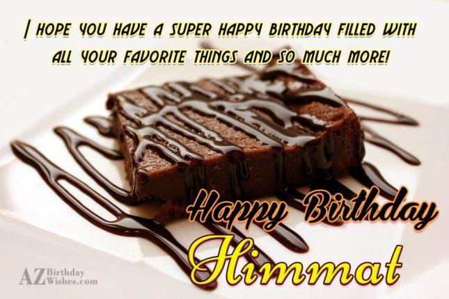 Happy Birthday Himmat - AZBirthdayWishes.com