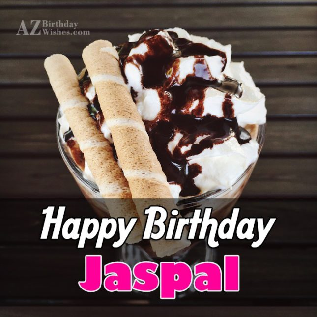 Happy Birthday Jaspal - AZBirthdayWishes.com