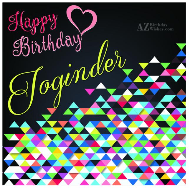 Happy Birthday Joginder - AZBirthdayWishes.com
