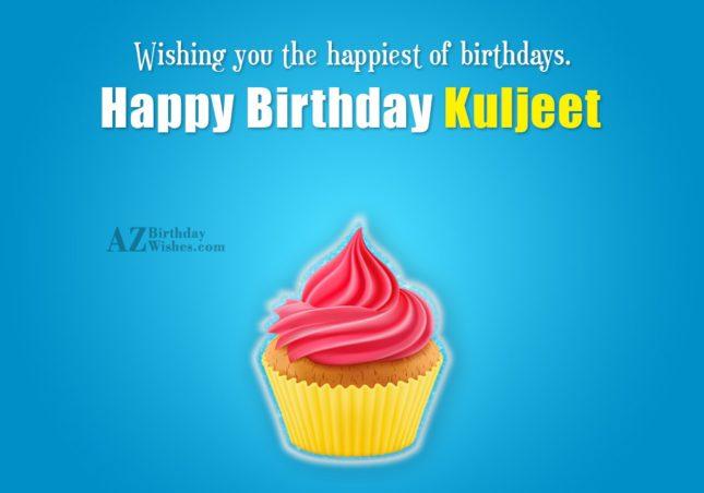 Happy Birthday Kuljeet - AZBirthdayWishes.com