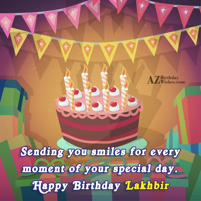 Happy Birthday Lakhbir - AZBirthdayWishes.com