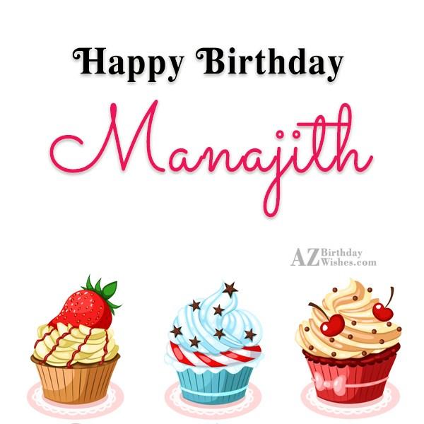Happy Birthday Manajith - AZBirthdayWishes.com