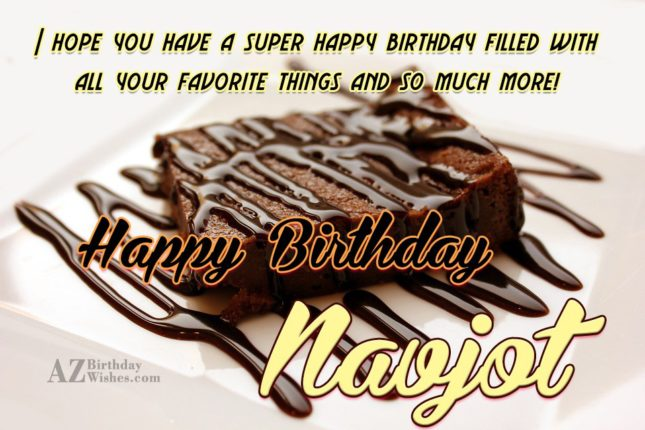 Happy Birthday Navjot - AZBirthdayWishes.com