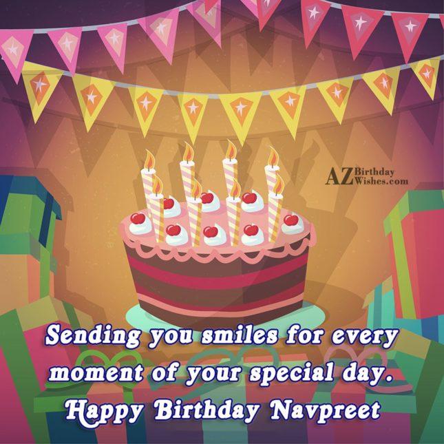 Happy Birthday Navpreet - AZBirthdayWishes.com