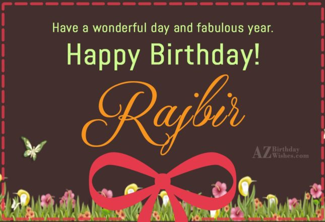Happy Birthday Rajbir - AZBirthdayWishes.com