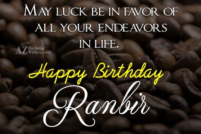 Happy Birthday Ranbir - AZBirthdayWishes.com