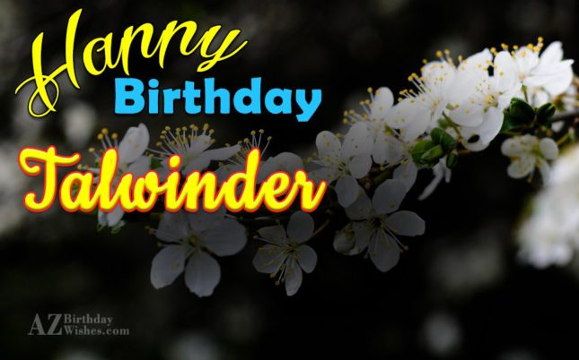 Happy Birthday Talwinder - AZBirthdayWishes.com