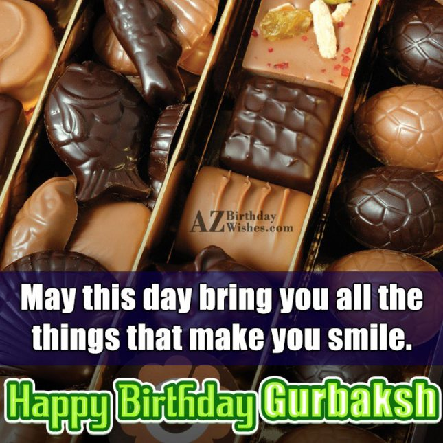 Happy Birthday Gurbaksh - AZBirthdayWishes.com