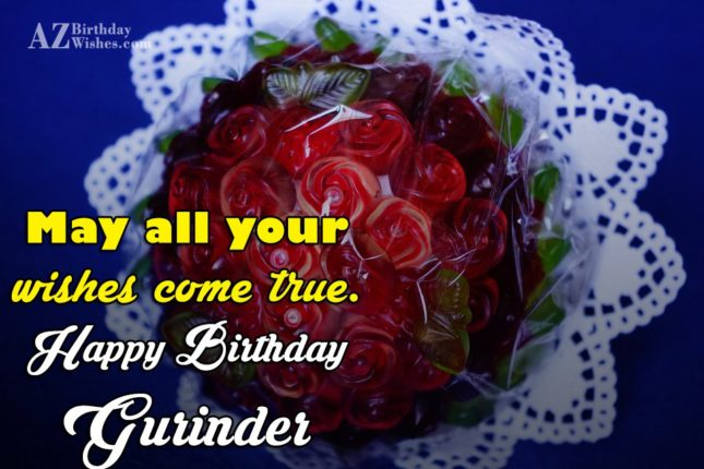 Happy Birthday Gurinder - AZBirthdayWishes.com