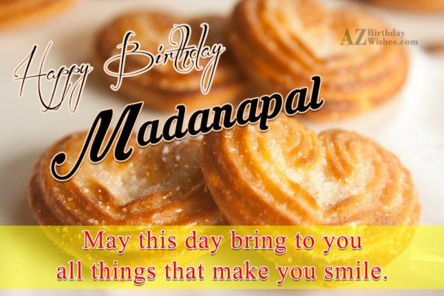 Happy Birthday Madanpal - AZBirthdayWishes.com