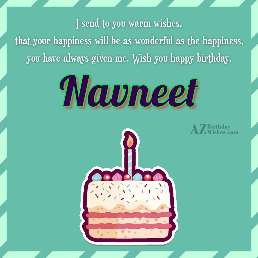 Happy Birthday Navneet