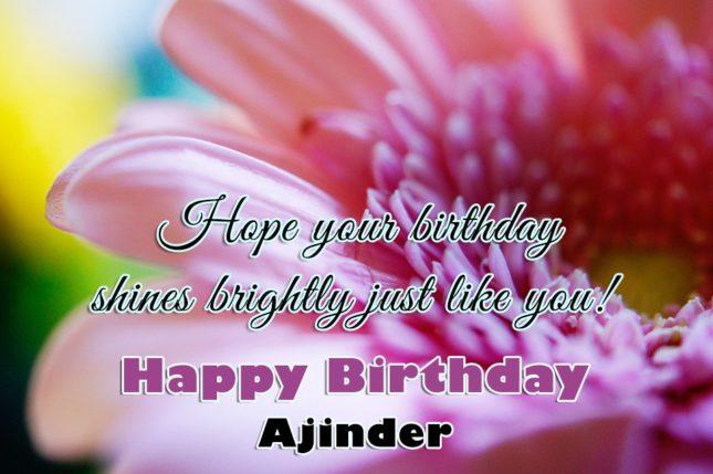 Happy Birthday Ajinder - AZBirthdayWishes.com
