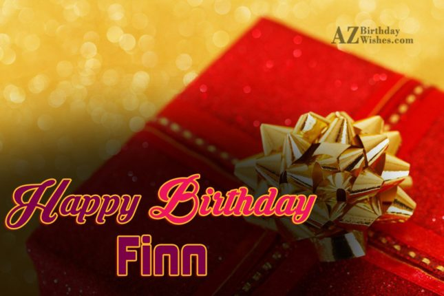 Happy Birthday Finn - AZBirthdayWishes.com