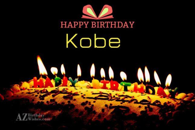 Happy Birthday Kobe - AZBirthdayWishes.com