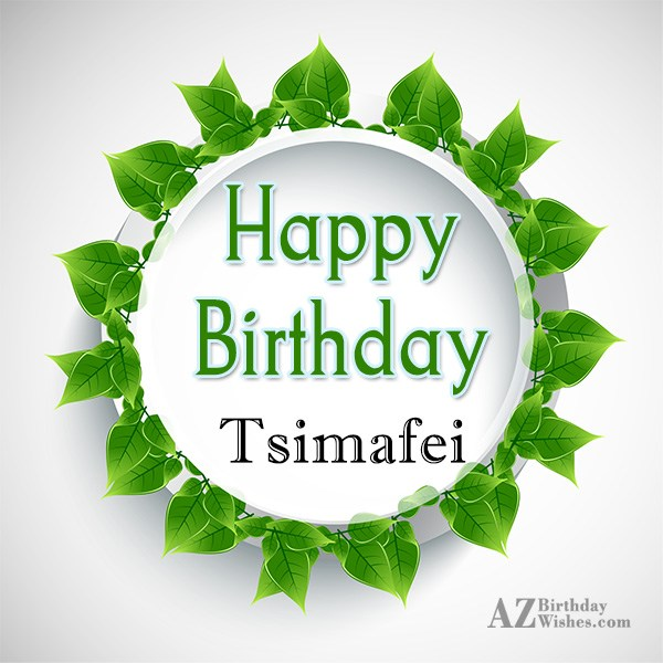 Happy Birthday Tsimafei - AZBirthdayWishes.com