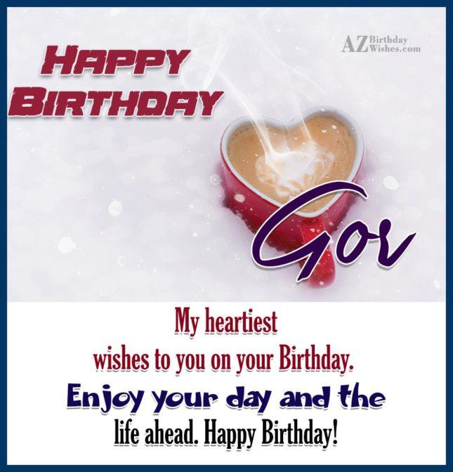 Happy Birthday Gor / Գոռ - AZBirthdayWishes.com