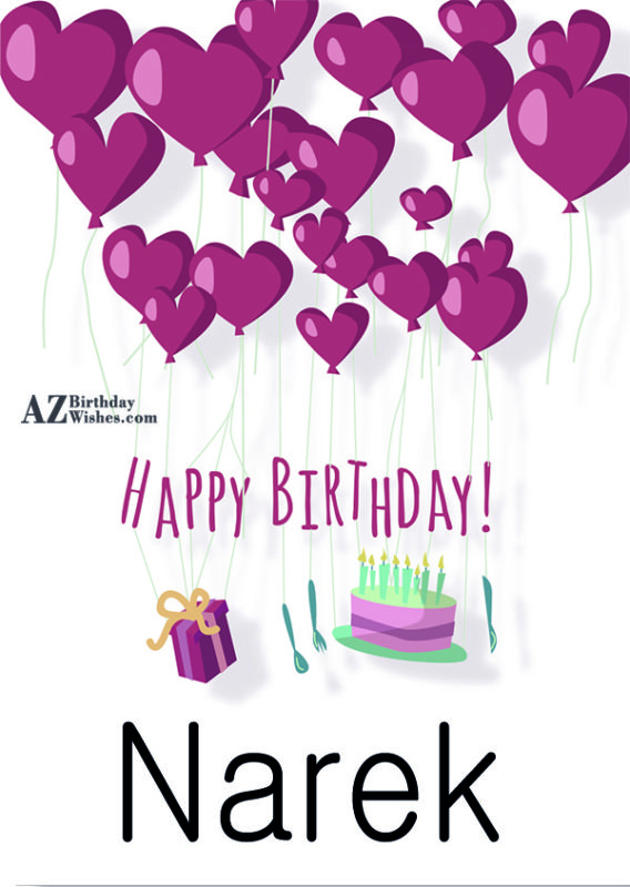 Happy Birthday Narek / Նարեկ - AZBirthdayWishes.com