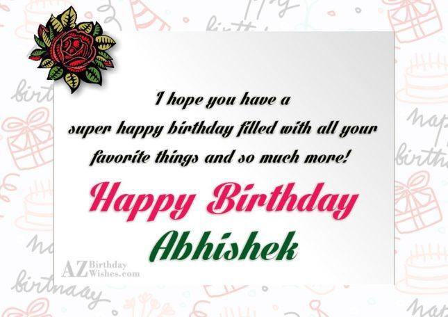 Happy Birthday Abhishek - AZBirthdayWishes.com